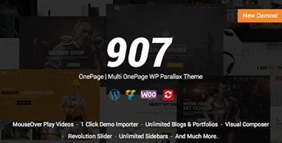 ThemeForest - 907 v4.0.3 - Responsive WP One Page - Multi One Page Parallax - 4087140