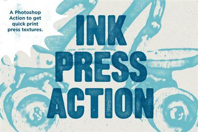 CreativeMarket - Ink Press Type Action