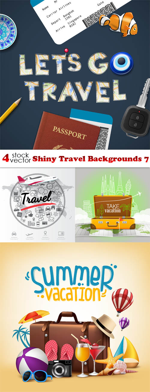 Vectors - Shiny Travel Backgrounds 7