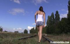 Morgan R - Masturbating and Peeing on a Railroad Track 720