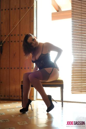 set148 Sexy black lingerie and stockings 22.01.14