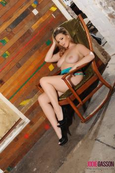 set222 Jodie Teasing On A Rocking Chair 28.11.15