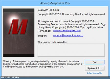 Screaming Bee MorphVOX Pro 4.4.39 Build 1538 Deluxe Pack RePack by KpoJIuK