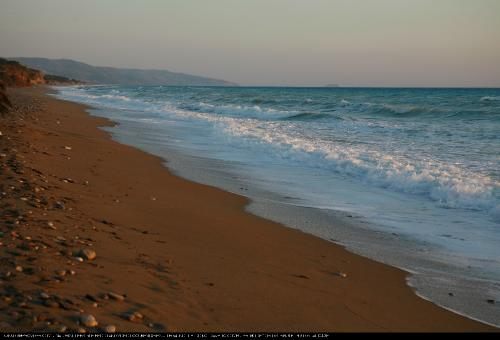Greek Calm Beach Sunset