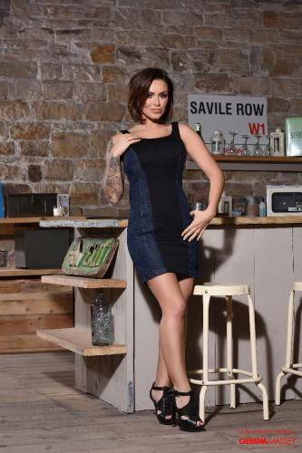 Gemma Massey In Her Tight Dress In The Kitchen