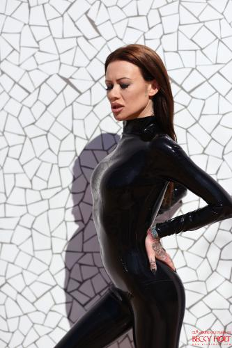 Becky Holt In Her Skin Tight Pvc