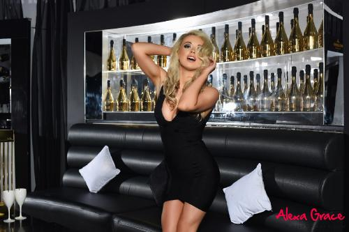 Alexa Grace Strips From Her Tight Black Dress
