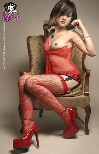 08-11 - Tegan - Red Lingerie