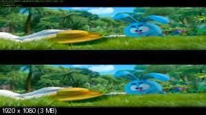 Смешарики. Легенда о золотом драконе 3D ( Лицензия by Ash61) Вертикальная анаморфная