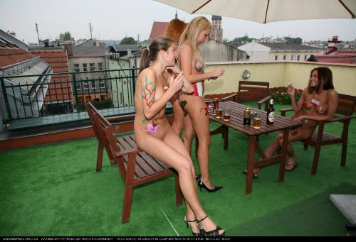 Painted Girl Rooftop Picnic