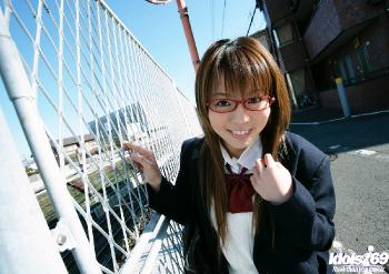 Yume Kimino - Yume Kimino Enjoys Posing At The Pier In Her School Uniform