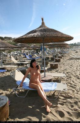 Cyprus Beach Lounging