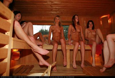 Girls Pool Party Sauna
