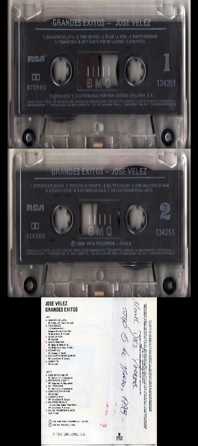 JOSE VELEZ - GRANDES EXITOS (1985) CASSETTE flac